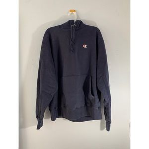 Champion reverse weave hoodie navy blue